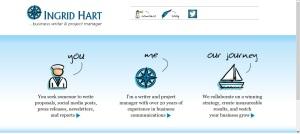Ingrid Hart Website Screen Shot